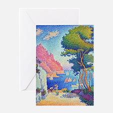 Capo di Noli by Paul Signac Greeting Card
