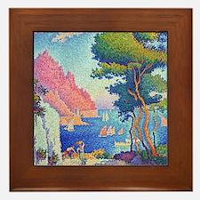 Capo di Noli by Paul Signac Framed Tile