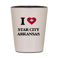 I love Star City Arkansas Shot Glass