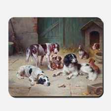 Dogs' Happy Life by Carl Reichert Mousepad