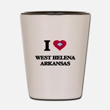 I love West Helena Arkansas Shot Glass