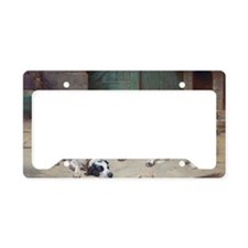 Dogs' Happy Life by Carl Reic License Plate Holder