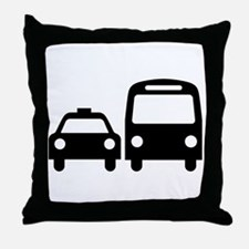 Public Transport Throw Pillow