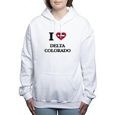 I love Delta Colorado Women's Hooded Sweatshirt