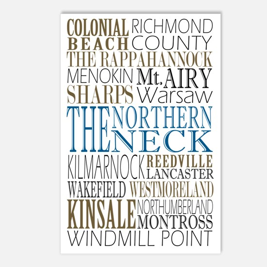 Northern Neck  Postcards (Package of 8)