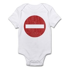 Vintage No Entry Infant Bodysuit