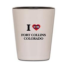 I love Fort Collins Colorado Shot Glass