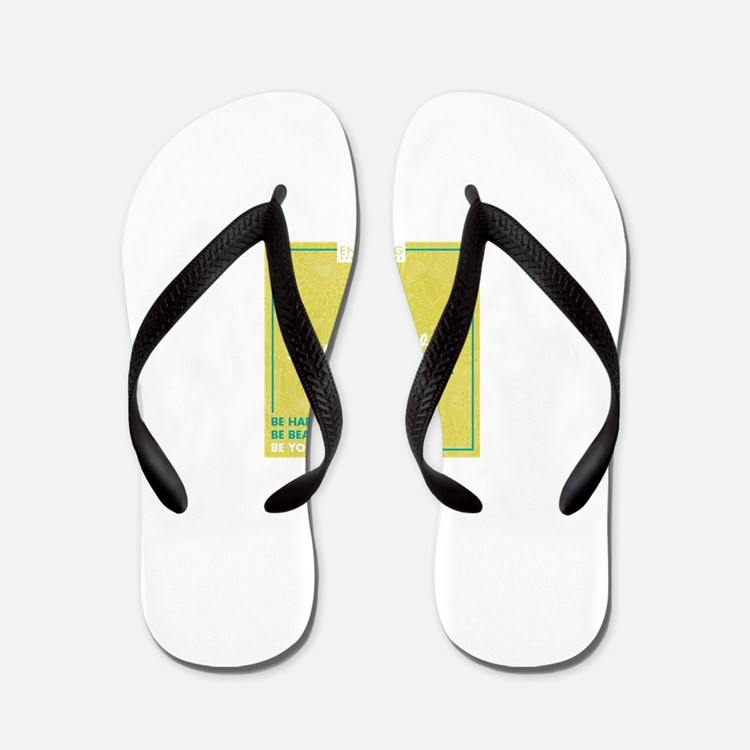 Cute Encouragement Flip Flops