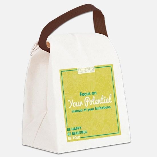 Cute Encouragement Canvas Lunch Bag