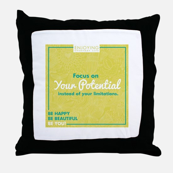 Unique Encouragement Throw Pillow