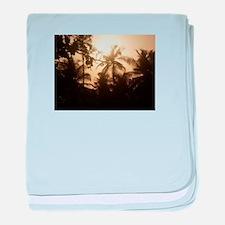 Goa Sunset baby blanket