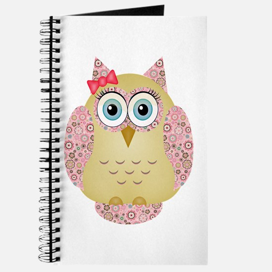 Owl with Floral wings Journal
