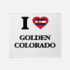 I love Golden Colorado Throw Blanket