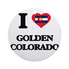 I love Golden Colorado Ornament (Round)