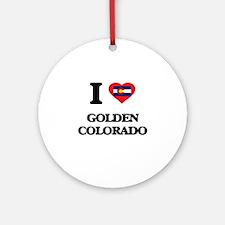 I love Golden Colorado Ornament (Round)