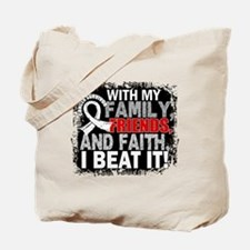 Lung Cancer Survivor FamilyFriendsFaith Tote Bag