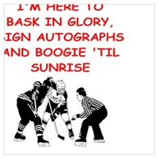 hockey joke Framed Print