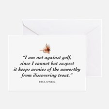 Not against golf... Greeting Card