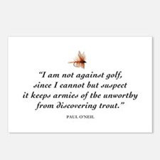 Not against golf... Postcards (Package of 8)