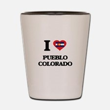 I love Pueblo Colorado Shot Glass
