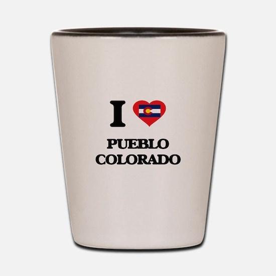 I love Pueblo Colorado Shot Glass