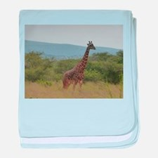 Giraffe of Akagera baby blanket