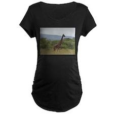 Giraffe of Akagera Maternity T-Shirt
