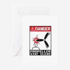 Propeller Stay Clear - Holland Greeting Card