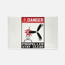 Propeller Stay Clear - Holland Rectangle Magnet