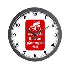 Drivers Make Also Mistakes - Norway Wall Clock
