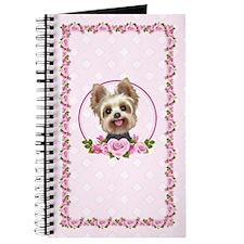 Yorkie Pink Roses 2 Journal
