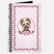 Yorkie Pink Roses 2 Journal