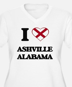 I love Ashville Alabama Plus Size T-Shirt
