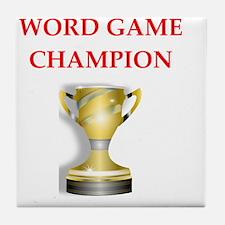 word games Tile Coaster