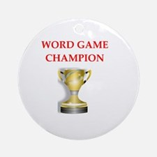 word games Round Ornament