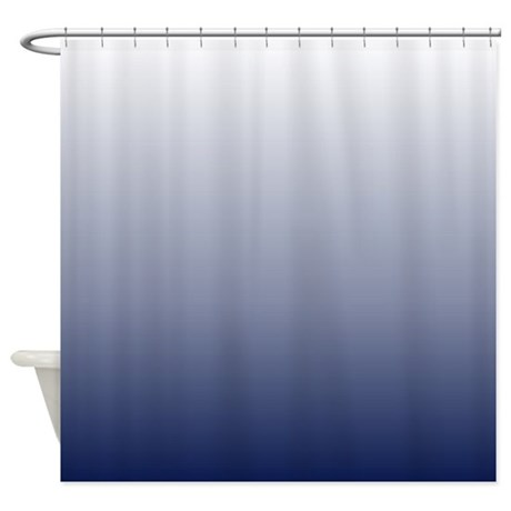 Ombre Navy Blue Shower Curtain By Admin Cp62325139