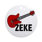 Guitar - Zeke Ornament (Round)