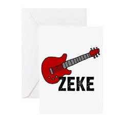 Guitar - Zeke Greeting Cards (Pk of 10)