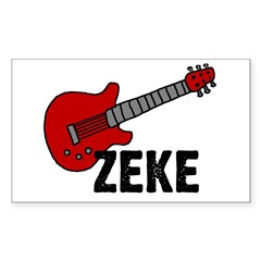 Guitar - Zeke Rectangle Decal
