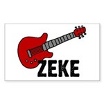 Guitar - Zeke Rectangle Sticker