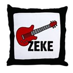 Guitar - Zeke Throw Pillow