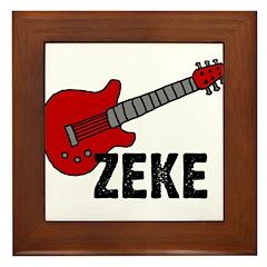 Guitar - Zeke Framed Tile