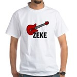 Guitar - Zeke White T-Shirt