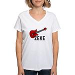 Guitar - Zeke Women's V-Neck T-Shirt