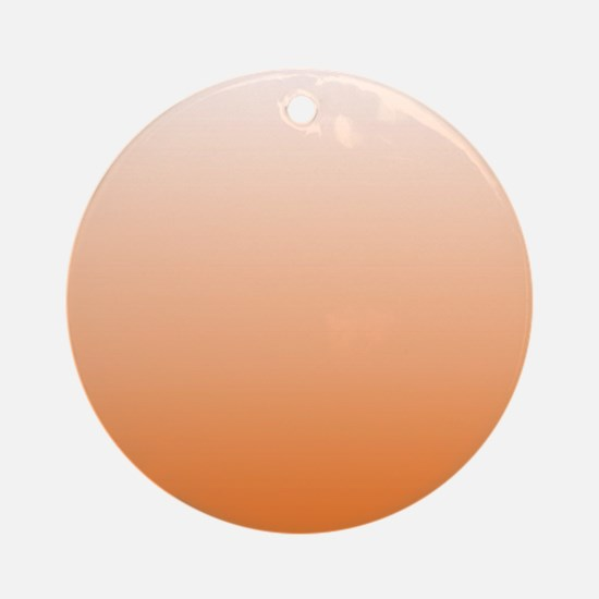ombre Orange tangerine Ornament (Round)