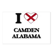 I love Camden Alabama Postcards (Package of 8)