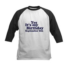 September 8th Birthday Tee