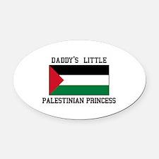 Palestine Princess Oval Car Magnet