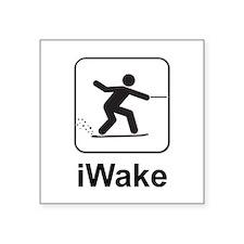 """Cute Wake board Square Sticker 3"""" x 3"""""""