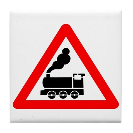 Warning Railway - Russia Tile Coaster